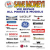 Repair For Less! Refrigerator Ice Maker Washer Dryer